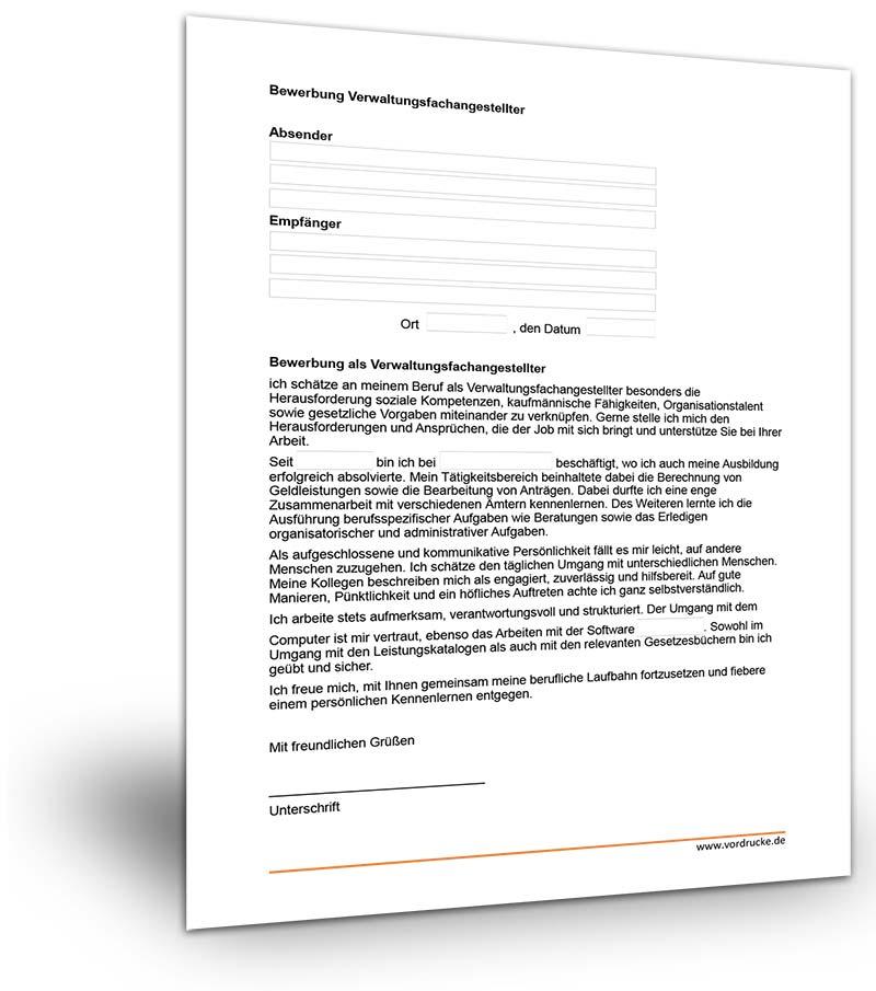 Verwaltungsfachangestellten bewerbung zum Bewerbung Verwaltungsfachangestellte