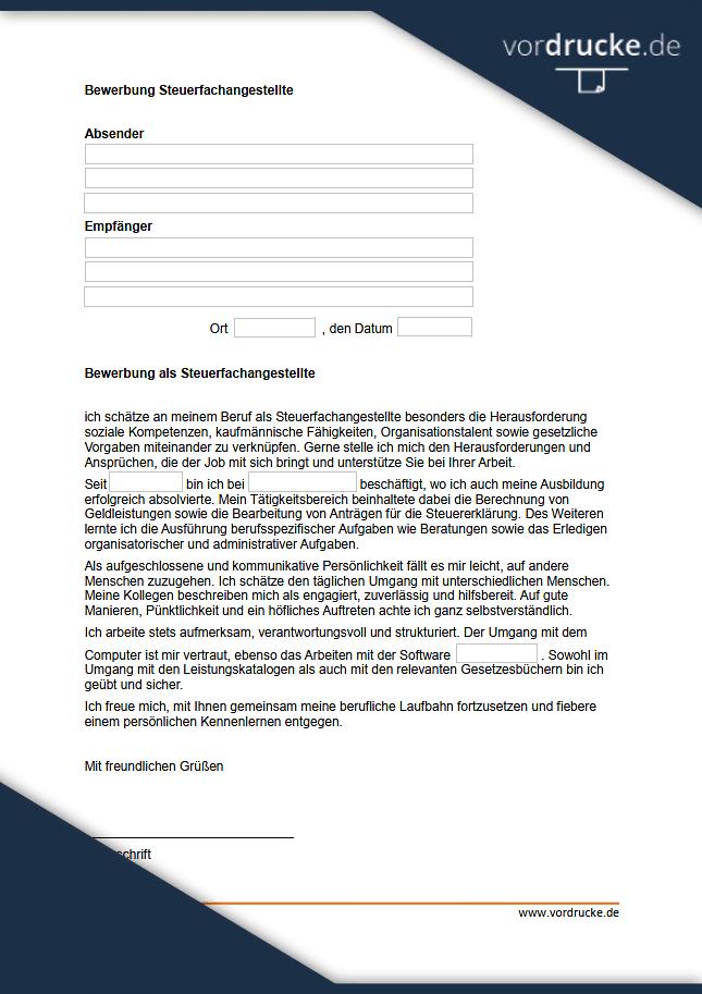 Bewerbungsschreiben Steuerfachangestellte 14