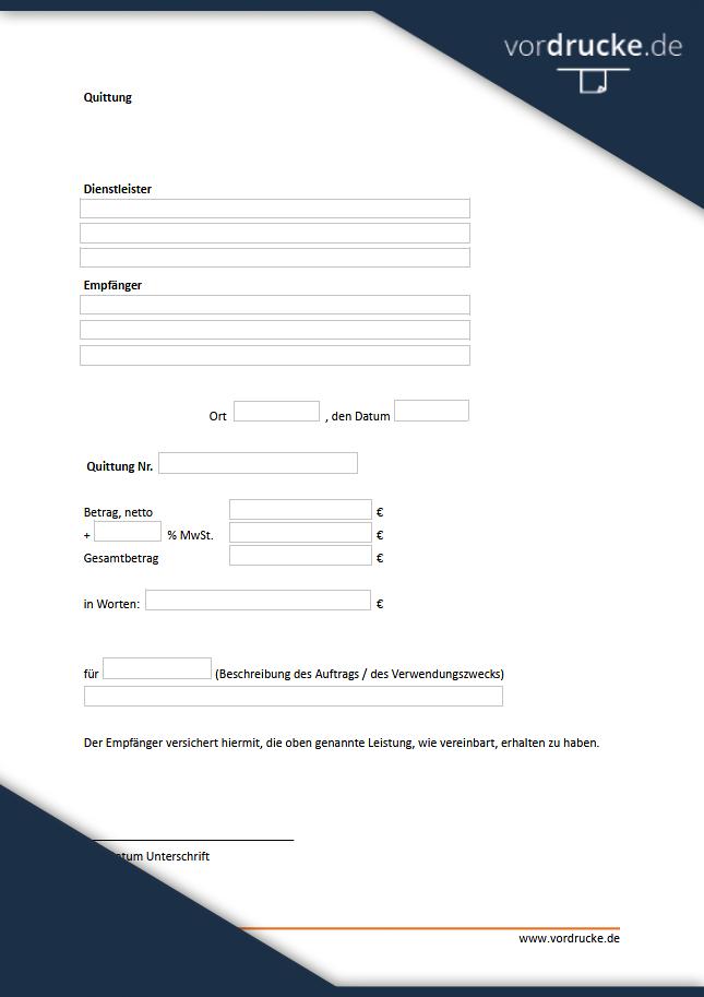 Quittung Vorlage Gratis Herunterladen Bei Invoice Simple