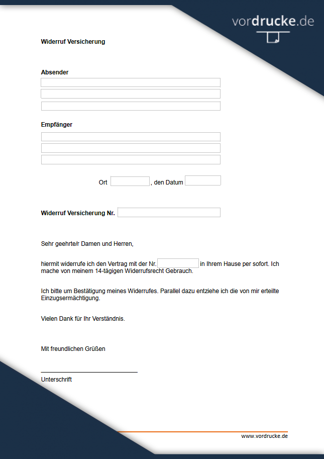 Adac Widerruf Vorlage Download Chip