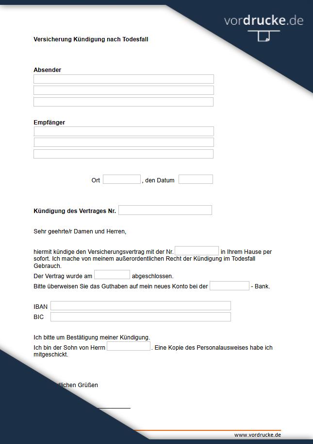 Kundigungsschreiben Vorlage Download Freeware De 7