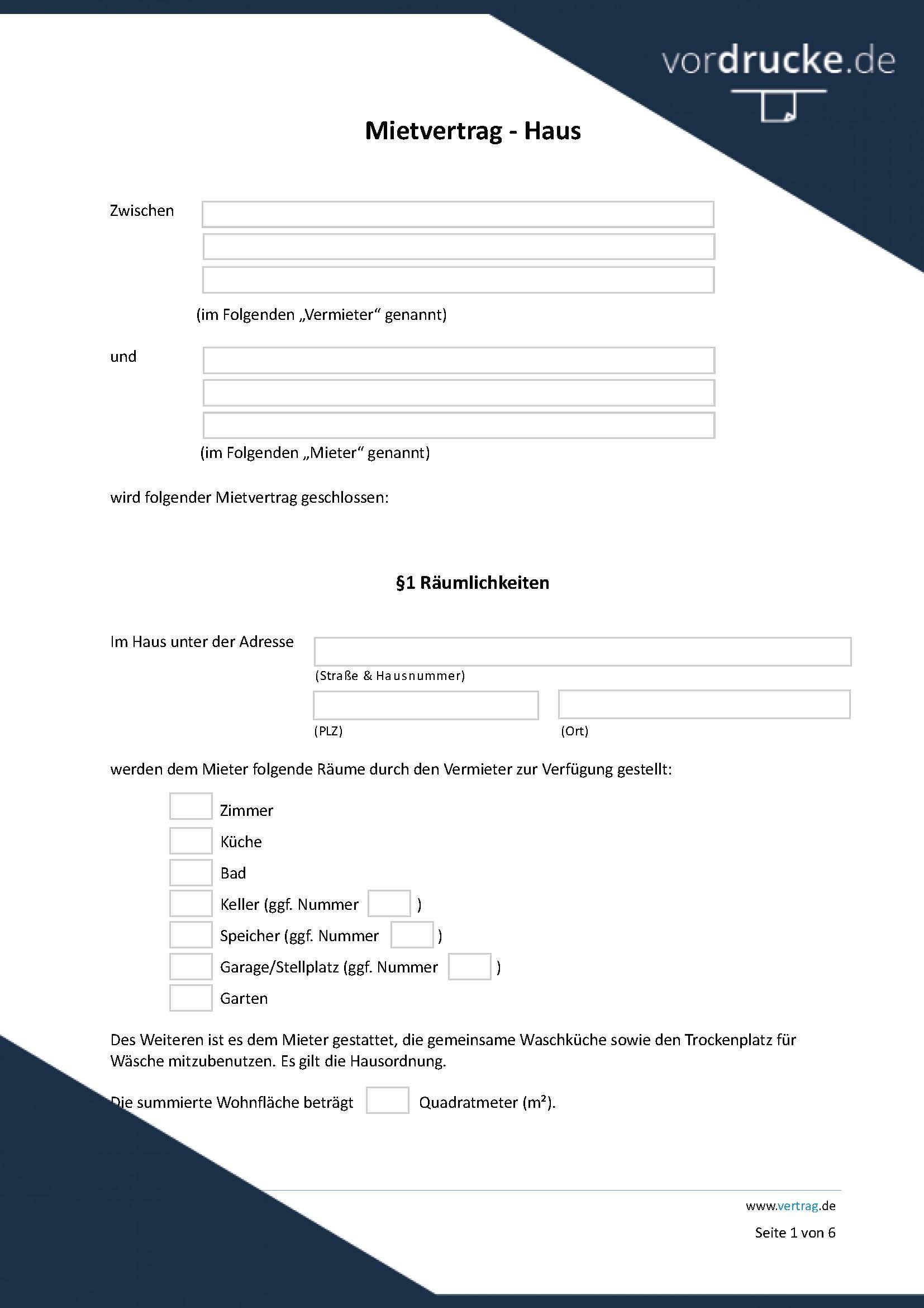 Mietvertrag Einliegerwohnung Muster Als Doc Pdf 2
